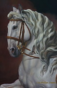 Spanish Horses Paintings - Self Carriage by Lisa Phillips Owens