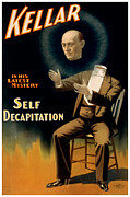Scary Painting Posters - Self Decapitation Poster by Terry Reynoldson
