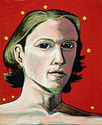 Denver Artist Posters - Self Portrait 1995 Poster by Feile Case