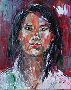 Self Portrait 2013 -2 Print by Becky Kim