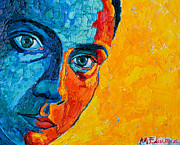 Textures And Colors Painting Prints - Self Portrait Print by Ana Maria Edulescu