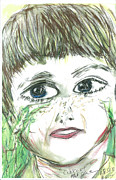 Self Portrait Pastels Prints - Self Portrait as cub scout Print by Mark Flanagan