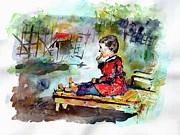 Self Portrait Childhood Print by Ginette Fine Art LLC Ginette Callaway