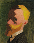 Self-portrait Paintings - Self Portrait by Edouard Vuillard