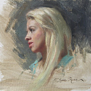 Anna Bain - Self Portrait in Profile