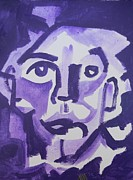 James  Christiansen - Self portrait in purple