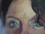 Soulful Eyes Paintings - Self Portrait by Kat Logan