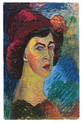 Self-portrait Prints - Self-Portrait Print by Marianne von Werefkin