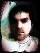 Jose Benavides Prints - Self Portrait Metal Print by Jose Benavides
