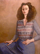 Beige Pastels - Self-portrait by Susan Tammany