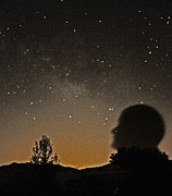 Star Gazing Posters - Self Portrait With a Galaxy 2 Poster by Carolina Liechtenstein