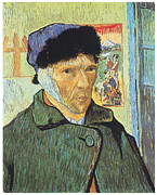 Self-portrait Prints - Self-Portrait with Bandaged Ear Print by Vincent Van Gogh