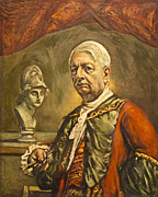 Chirico Posters - Self portrait with head of Minerva by Giorgio de Chirico Poster by Stefano Baldini
