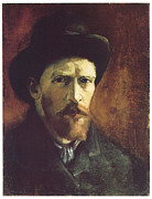 Self-portrait Prints - Self-Portriat with Dark Felt Hat Print by Vincent Van Gogh