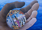 Checkerboard Floor Paintings - Self Rumination by Pamela  Gosnell