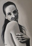 Self-portrait Pastels Prints - Self Print by Treacey Kotze