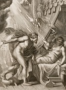 Semele Is Consumed By Jupiters Fire Print by Bernard Picart