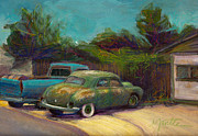Cars Paintings - Semi Retired by Athena  Mantle