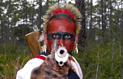 Pistol Photo Posters - Seminole Warrior Poster by David Lee Thompson