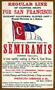 San Francisco Drawings Posters - Semiramis Poster by Carol Pietrantoni