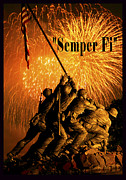 4th July Digital Art Framed Prints - Semper Fi Framed Print by Government Photographer