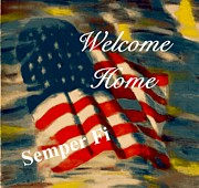 Patriotic Pastels Framed Prints - Semper Fi Greeting Card Framed Print by Patrick McClellan