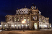 Architektur Pyrography Framed Prints - Semperoper Framed Print by Steffen Gierok