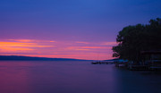 Dusk Art - Seneca Lake Glows 2 by Photographic Arts And Design Studio