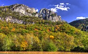 Pendleton County Posters - Seneca Rocks - 1A Seneca Rocks National Recreation Area WV Autumn Mid-Afternoon Poster by Michael Mazaika