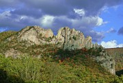Razorback Photos - Seneca Rocks by Jean Goodwin Brooks