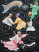 Mirror Reliefs Posters - Senior Dance Poster by Alison  Galvan