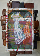 Abstract Purse Paintings - Senior Looking For A Senorita - Framed by Nancy Mauerman