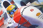 Automotive Art Framed Prints - Senna Framed Print by Robert Hooper