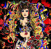 Goddess Mythology Mixed Media - Senorita Florita by Natalie Holland