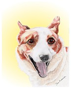 Animal Shelter Mixed Media - Sensi - former shelter sweetie by Dave Anderson