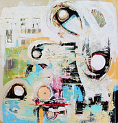 White Art Mixed Media Prints - Sensory Response Print by Mark M  Mellon