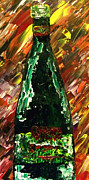 Wine Bottle Paintings - Sensual Explosion Bottle 1 by Mark Moore