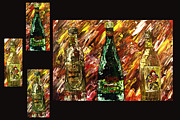 Pallet Knife Digital Art Prints - Sensual Explosion Collage 1 Print by Mark Moore