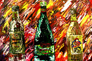 Wine Bottle Paintings - Sensual Explosion  by Mark Moore