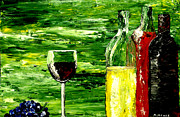 Wine Bottle Paintings - Sensual Nectar 2 by Mark Moore