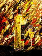 Pouring Wine Painting Prints - Sensual Nights  Print by Mark Moore