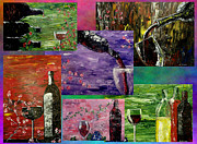 Pouring Wine Digital Art Prints - Sensual Wine  Print by Mark Moore