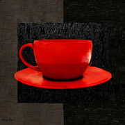 Red Cup Coffee Posters - Sensuality Poster by Lourry Legarde