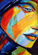 Faces Paintings - Sentiment by Helena Wierzbicki