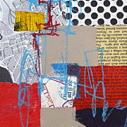 Abstract Map Mixed Media - Sentimental journey by Elena Nosyreva