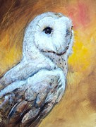 Owl Pastels - Sentinal by Tonja  Sell