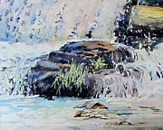Waterfalls Paintings - Sentinel Soldier					 by Bev Morgan