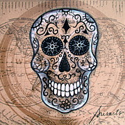 Sugar Skull Originals - Senyor Calavera by Pristine Cartera Turkus