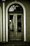 Angela Castillo Art - Sepia Door by Cherie Haines