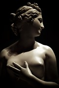 Featured Sculpture Prints - Sepia Female Bust Print by Kingston Kodan